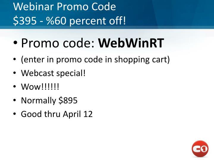 Webinar Promo Code