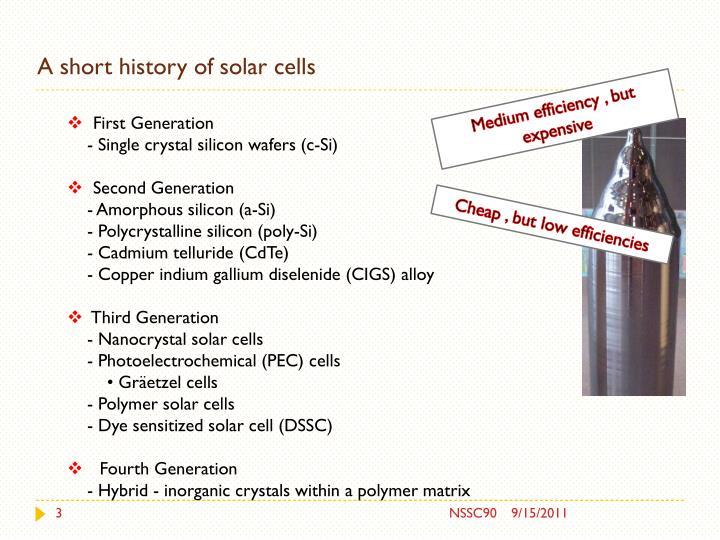 A short history of solar cells