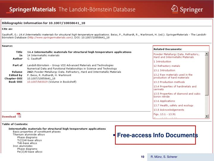 Free-access Info Documents