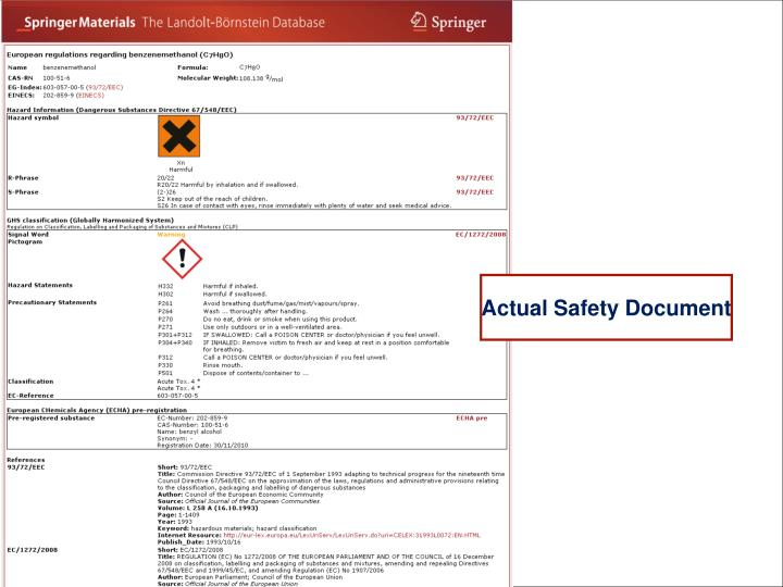 Actual Safety Document