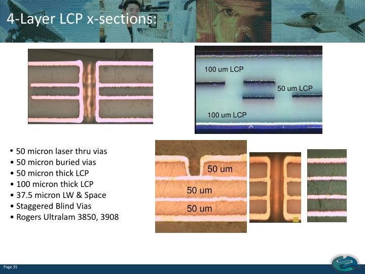 4-Layer LCP x-sections: