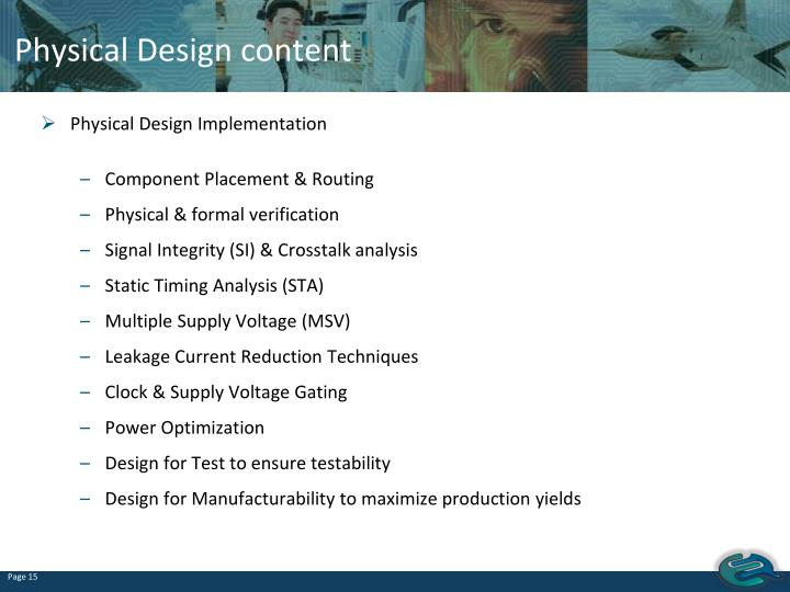 Physical Design content