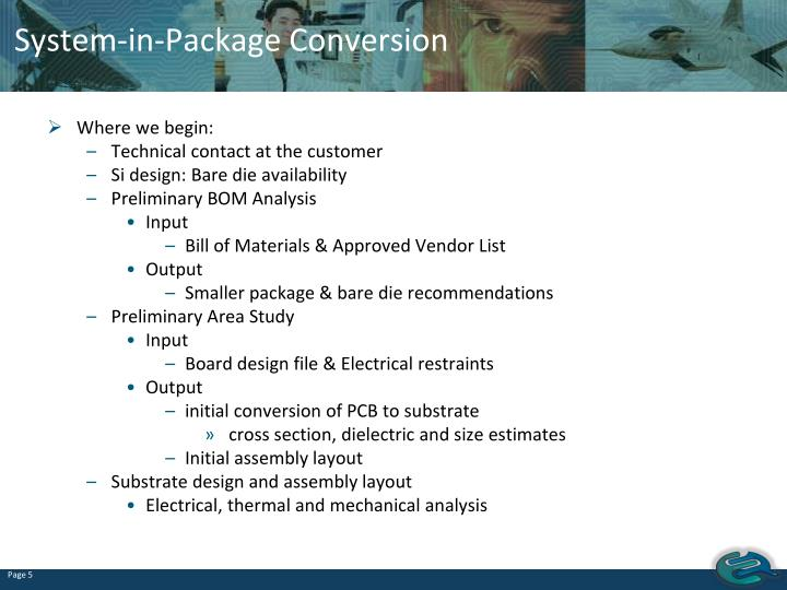 System-in-Package Conversion