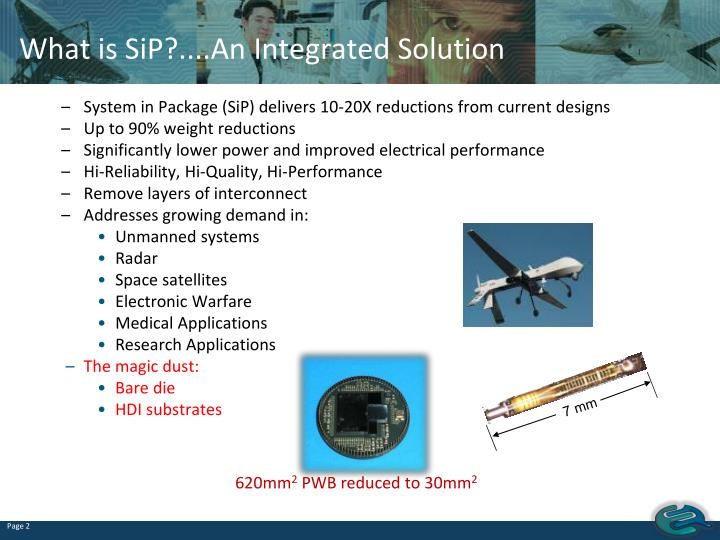 What is SiP?....An Integrated Solution