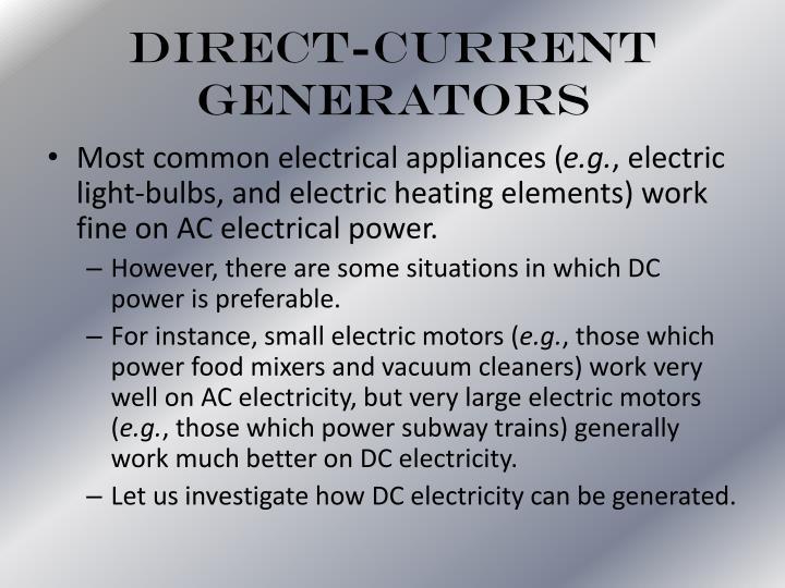 Direct-Current Generators