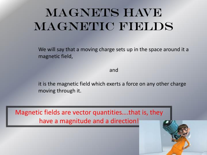 Magnets Have Magnetic Fields