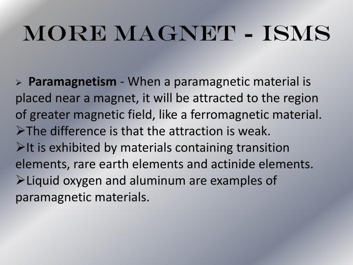 More Magnet - isms