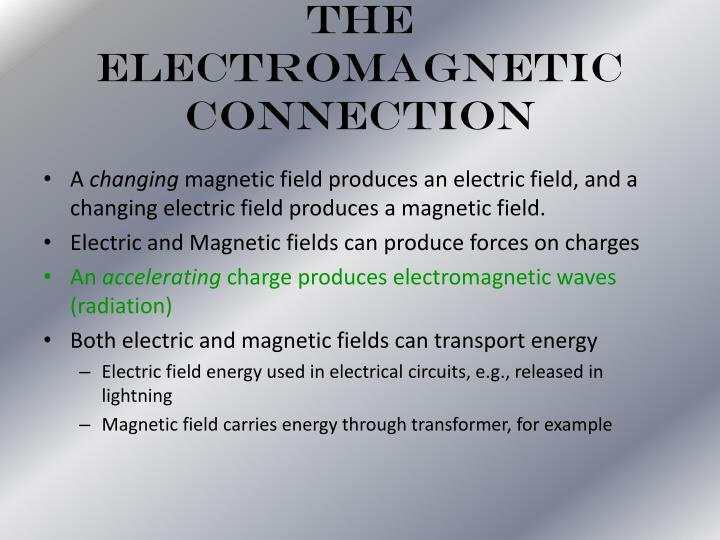 The Electromagnetic Connection