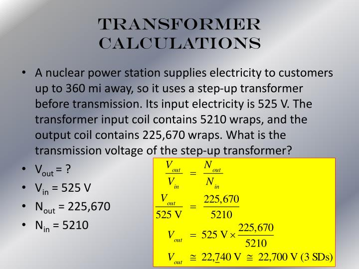 Transformer Calculations