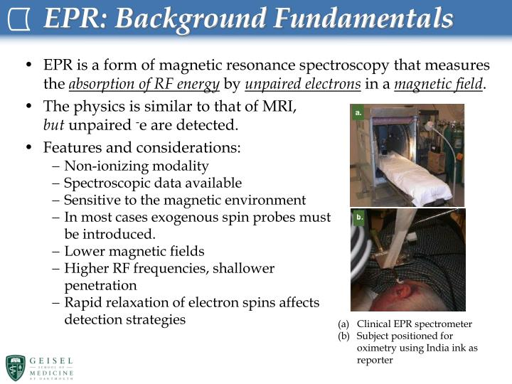 Epr background fundamentals