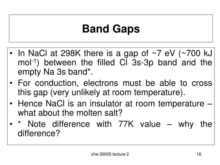 Band Gaps