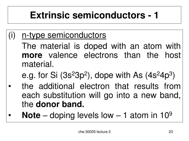 Extrinsic semiconductors - 1