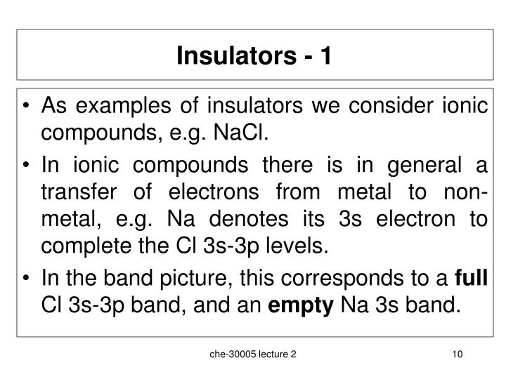 Insulators - 1