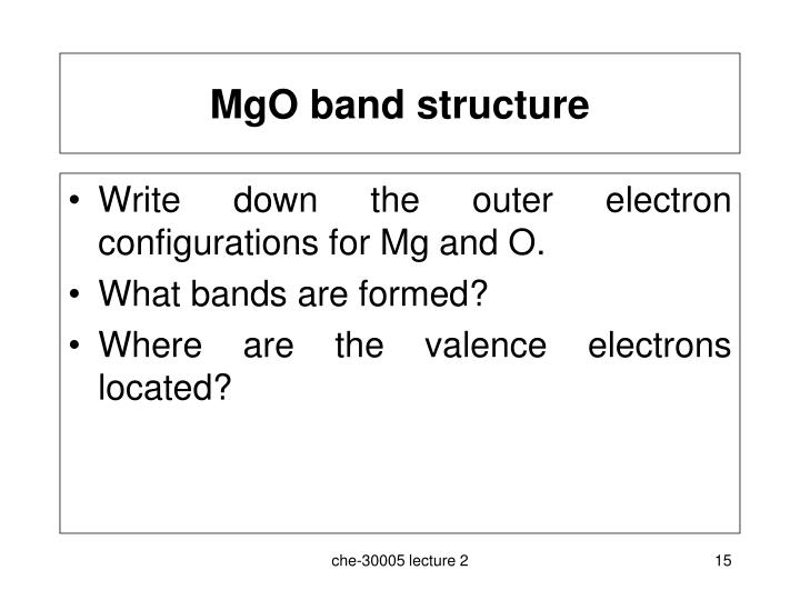 MgO band structure