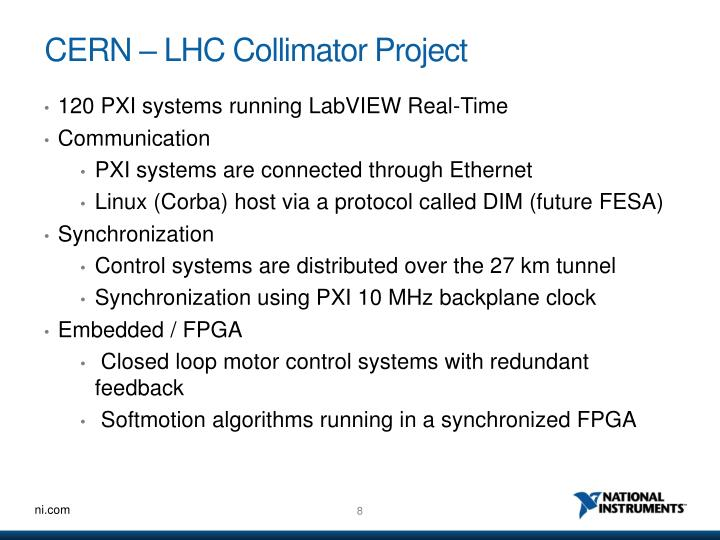 CERN – LHC Collimator Project