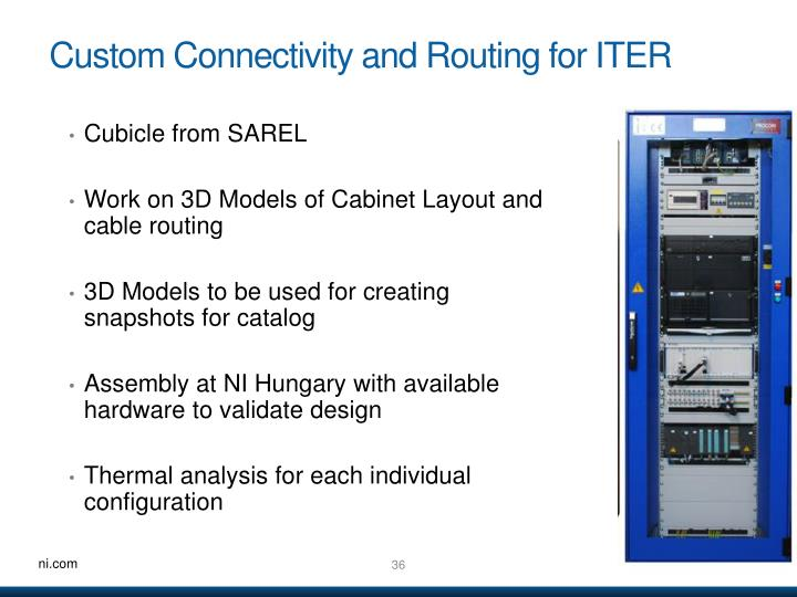 Custom Connectivity and Routing for ITER