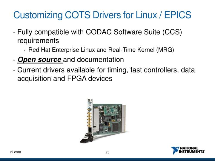 Customizing COTS Drivers for Linux / EPICS