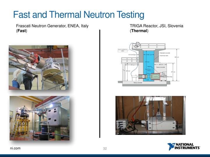 Fast and Thermal Neutron Testing