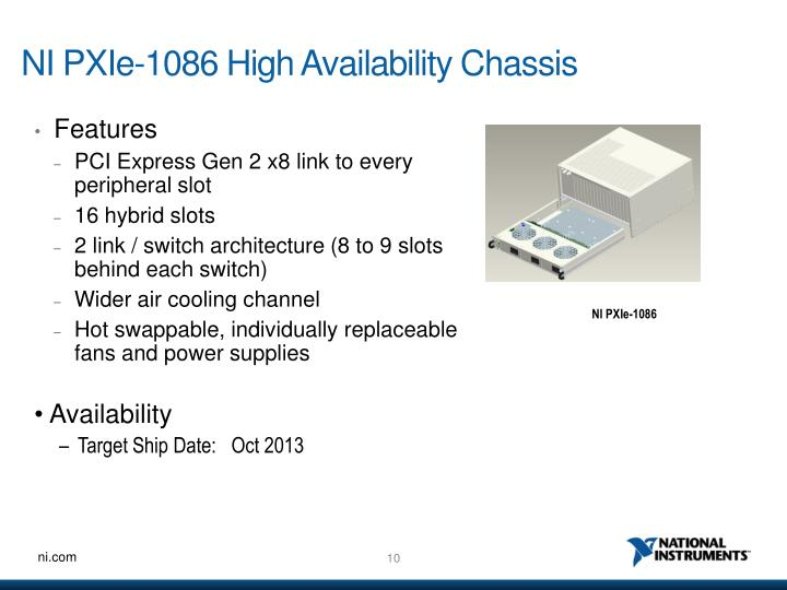 NI PXIe-1086 High Availability Chassis