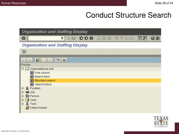 Conduct Structure Search