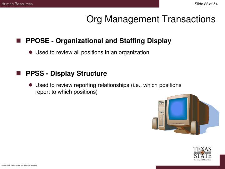 Org Management Transactions