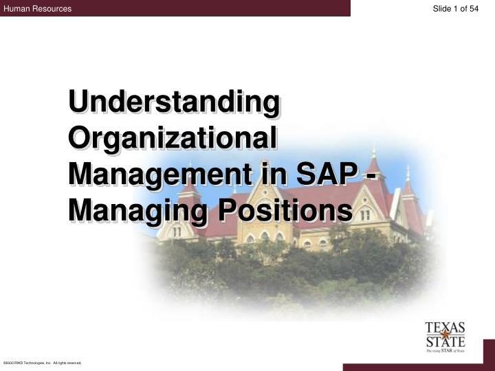 Understanding Organizational Management in SAP - Managing Positions