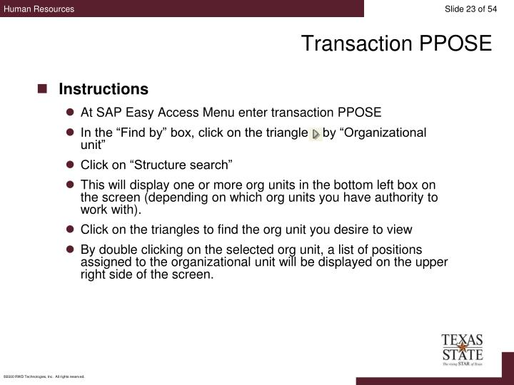 Transaction PPOSE