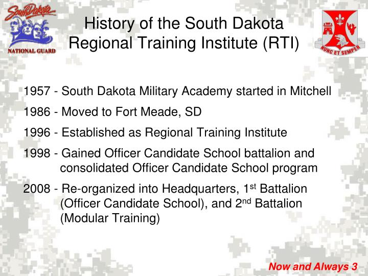 1957 - South Dakota Military Academy started in Mitchell
