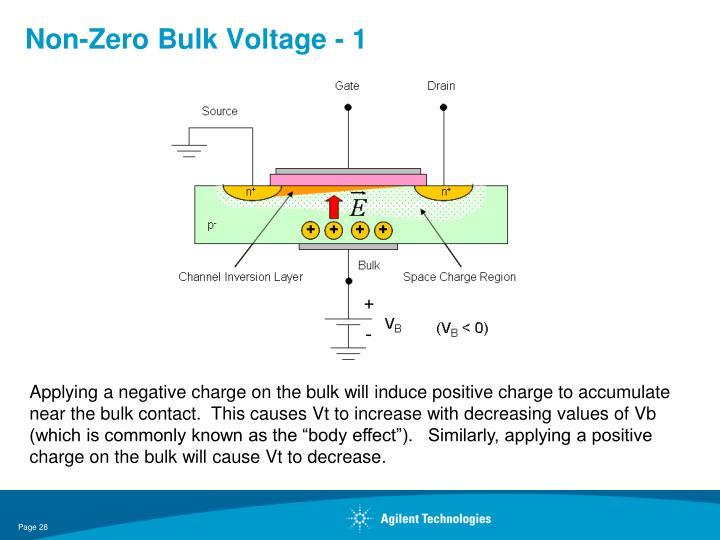 Non-Zero Bulk Voltage - 1