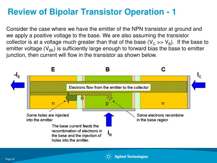 Review of Bipolar Transistor Operation - 1