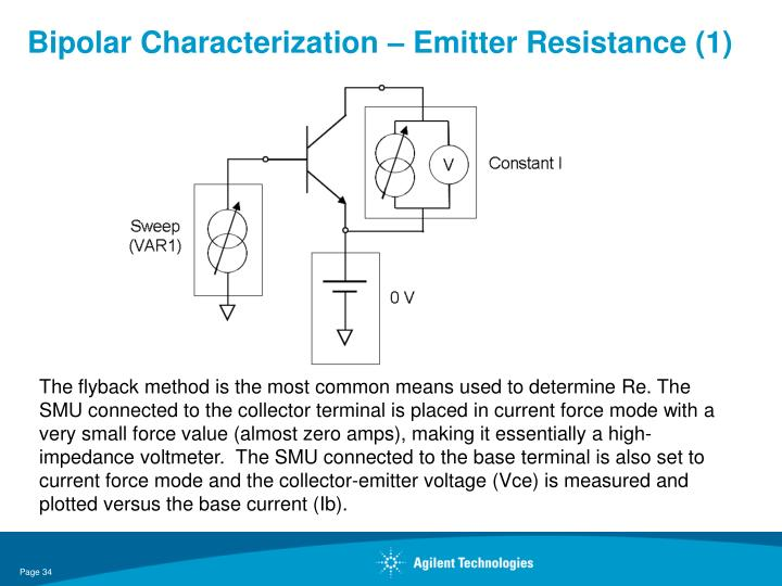 Bipolar Characterization – Emitter Resistance (1)