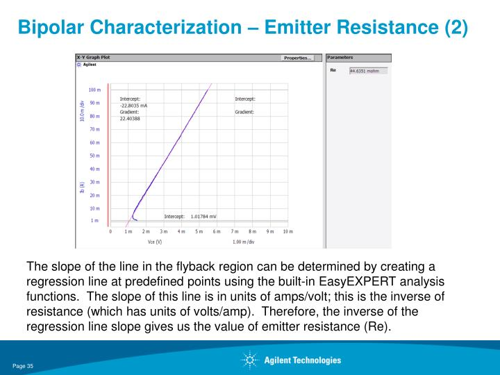 Bipolar Characterization – Emitter Resistance (2)