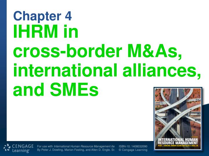 Ihrm in cross border m as international alliances and smes