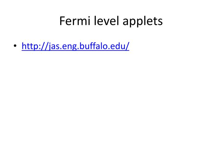 Fermi level applets
