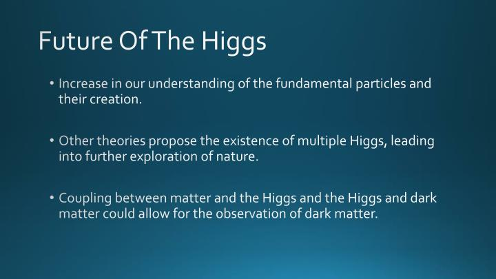 Future Of The Higgs