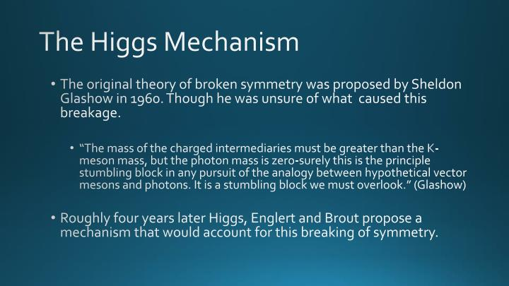 The Higgs Mechanism