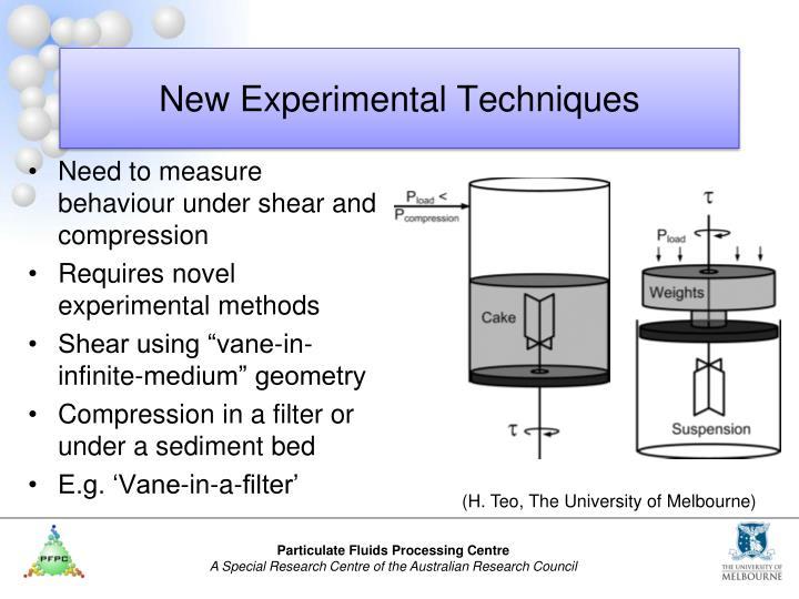 New Experimental Techniques