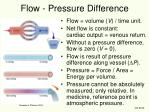 flow pressure difference