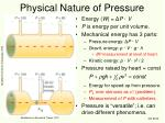 physical nature of pressure