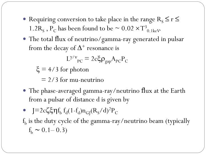 Requiring conversion to take place in the range R
