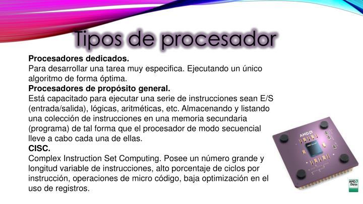 Tipos de procesador