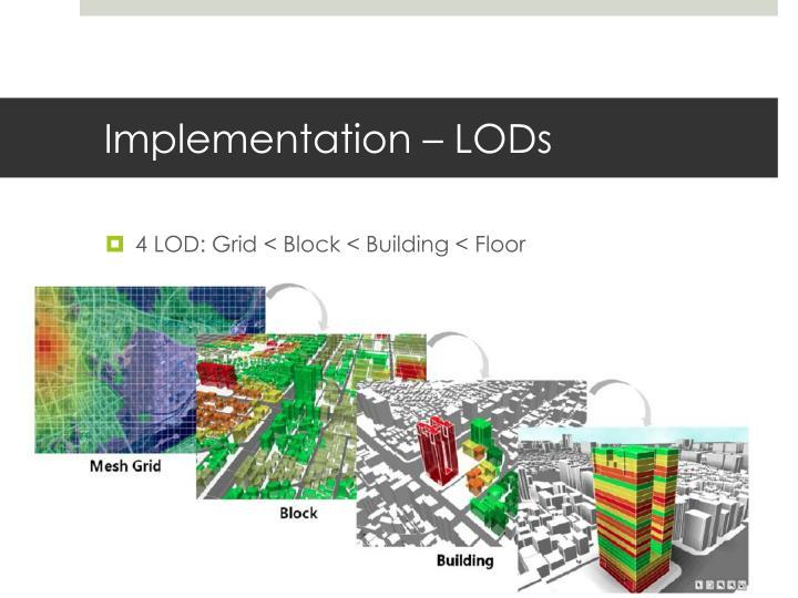 Implementation – LODs