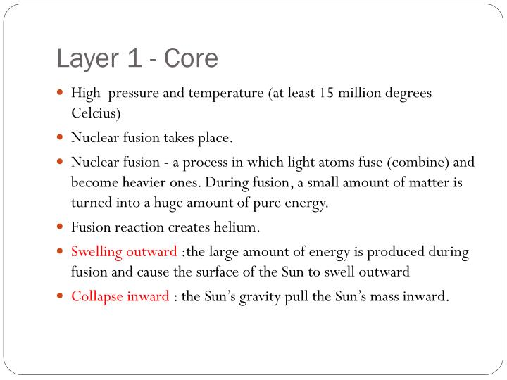 Layer 1 - Core