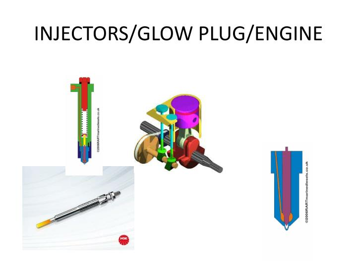 INJECTORS/GLOW PLUG/ENGINE