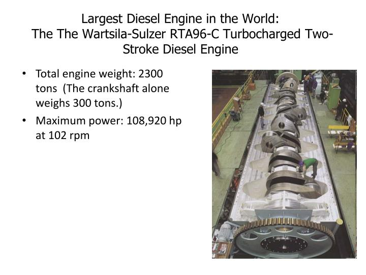 Largest Diesel Engine in the World: