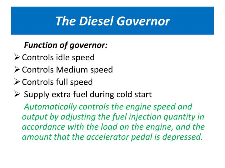 The Diesel Governor