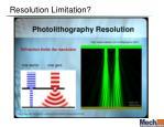 resolution limitation