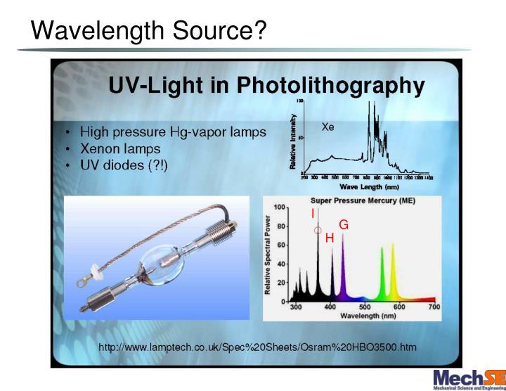Wavelength Source?