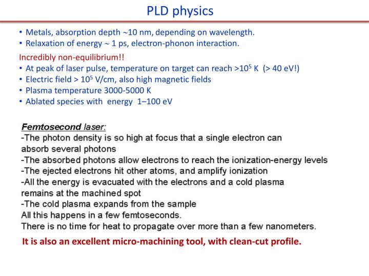PLD physics