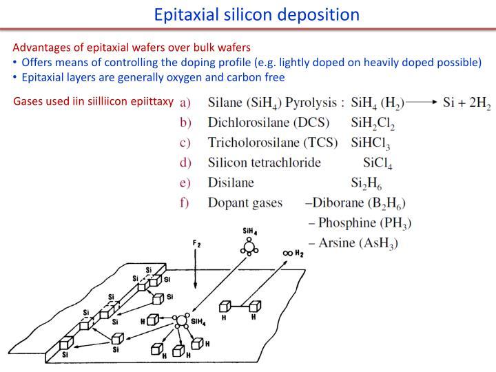 Epitaxial silicon deposition